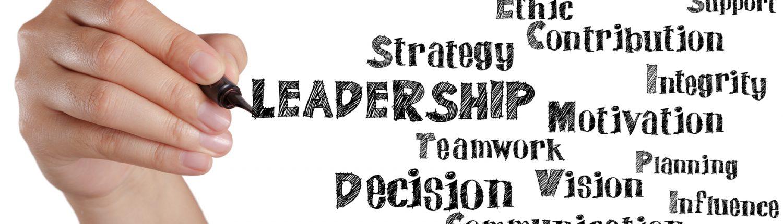 Palabras escritas a mano para el liderazgo
